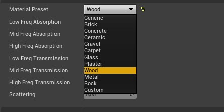 phonetic material list unreal engine